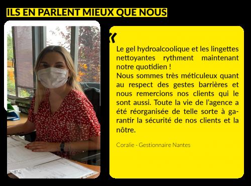 Témoignage Coralie - Gestionnaire Nantes